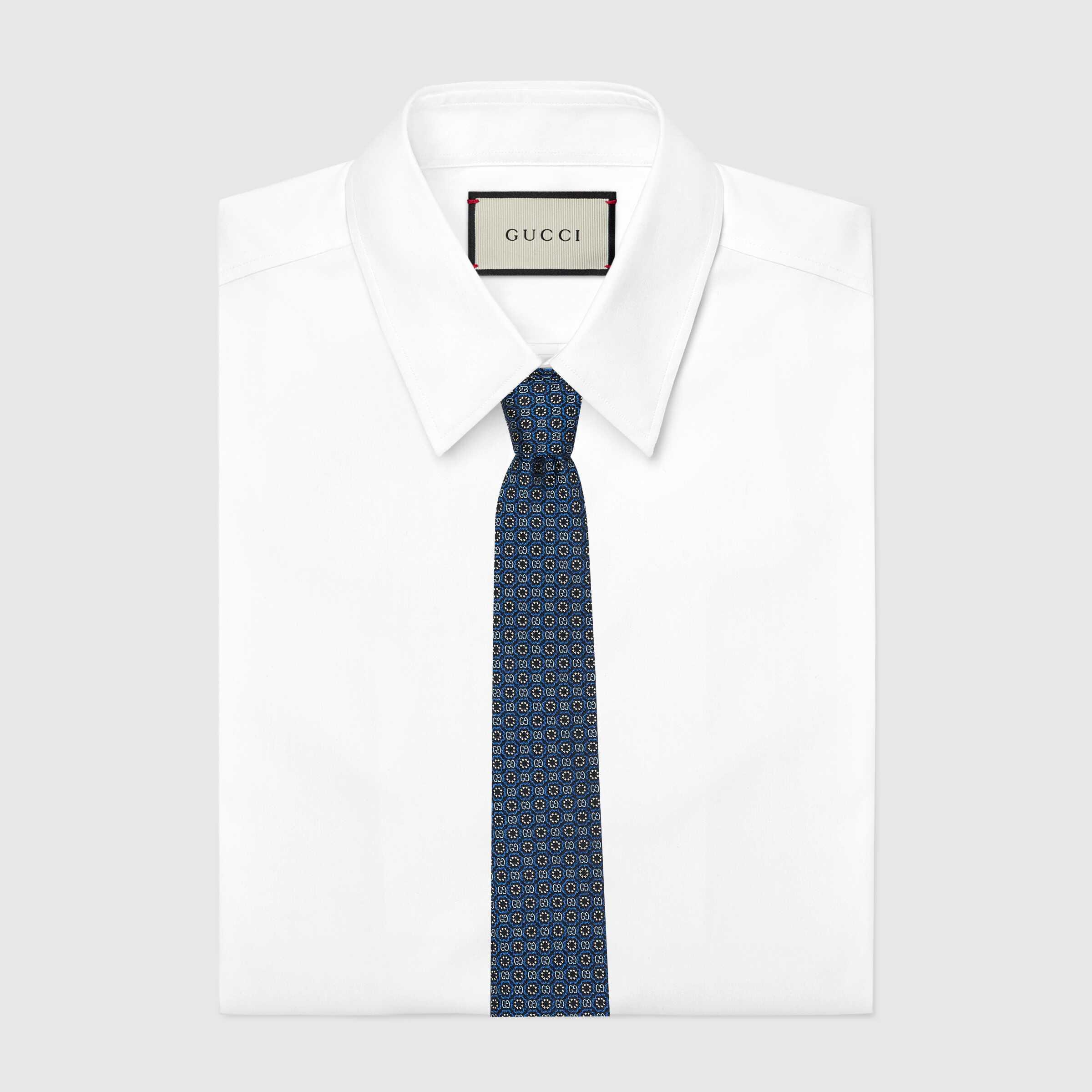 유럽직배송 구찌 GUCCI Gucci - Ken Scott x Gucci monogram silk tie 6439964E0024878