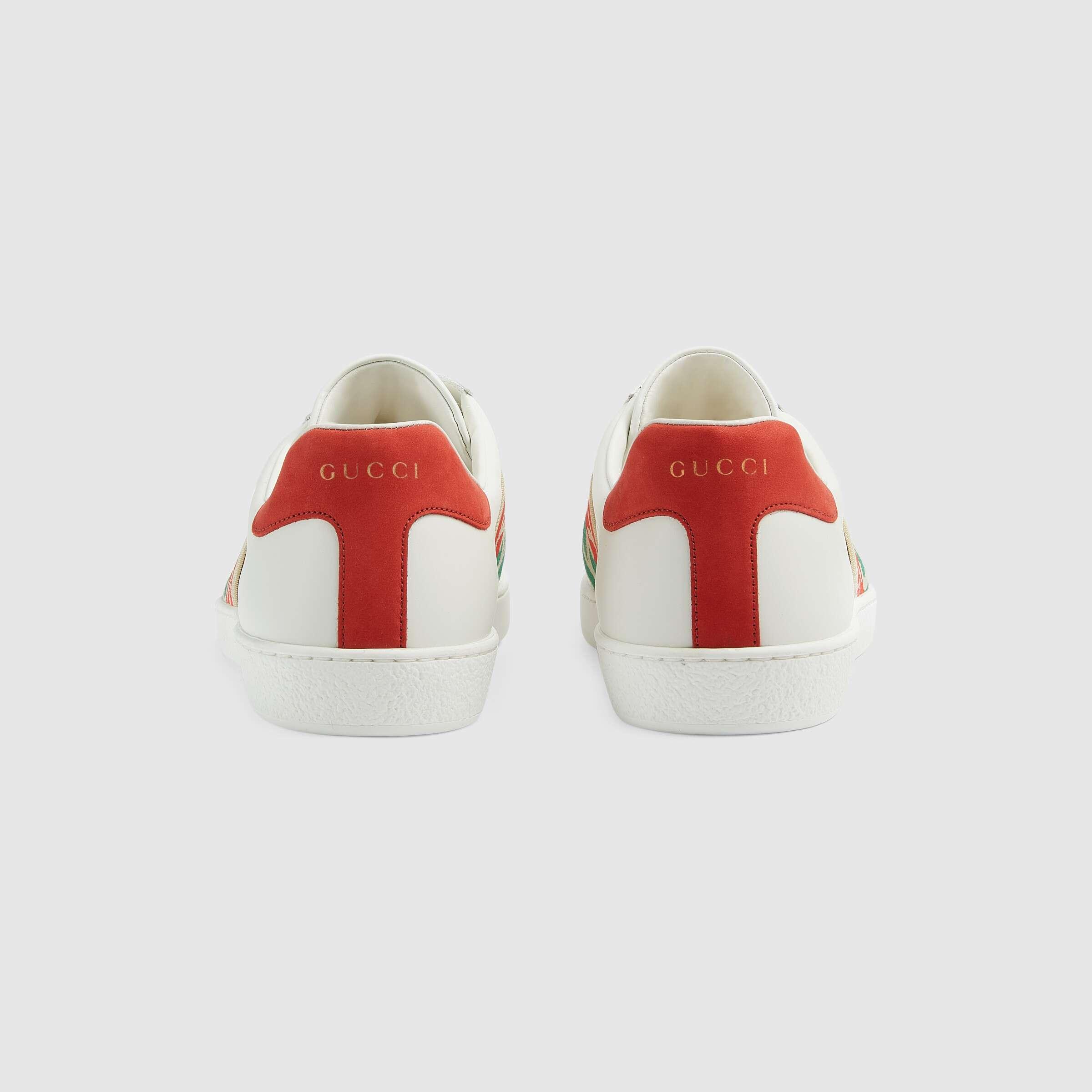 유럽직배송 구찌 GUCCI Gucci Men's Ace sneaker with elastic Web 6434881XGF09066