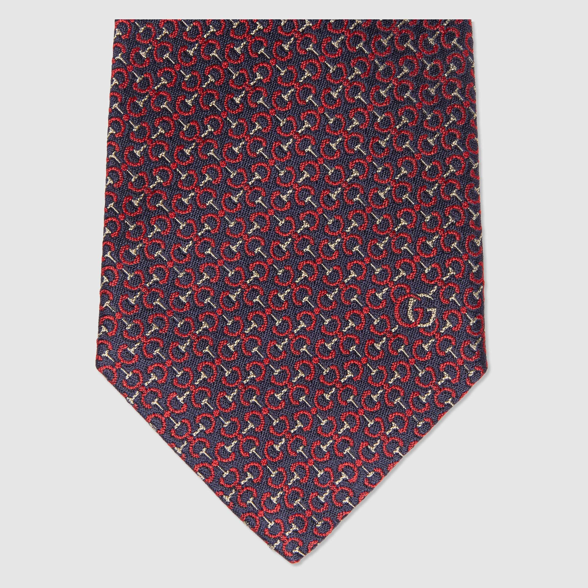 유럽직배송 구찌 GUCCI Gucci Horsebit silk tie 6437854E0024073
