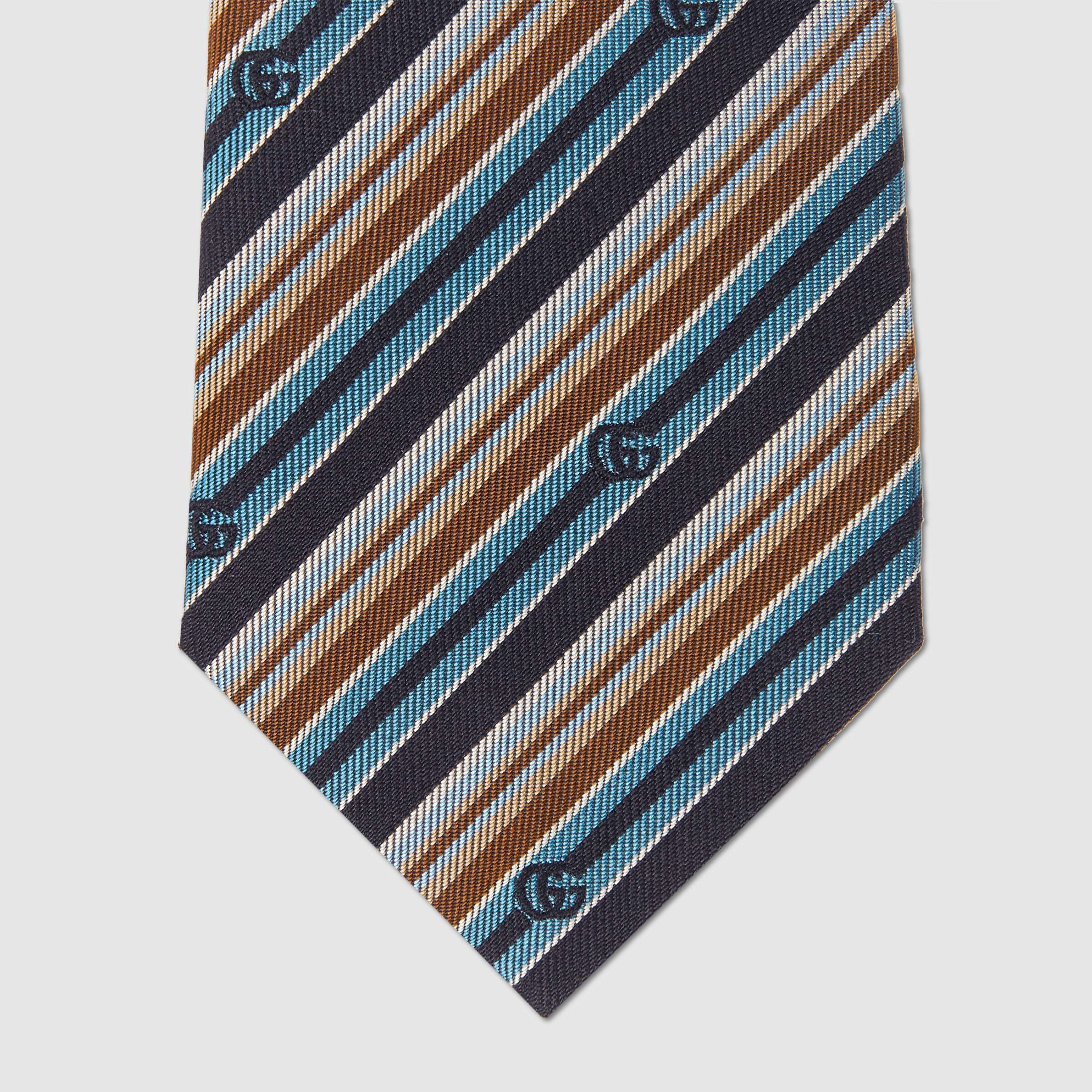 유럽직배송 구찌 GUCCI Gucci Striped silk tie 6449344E9814169