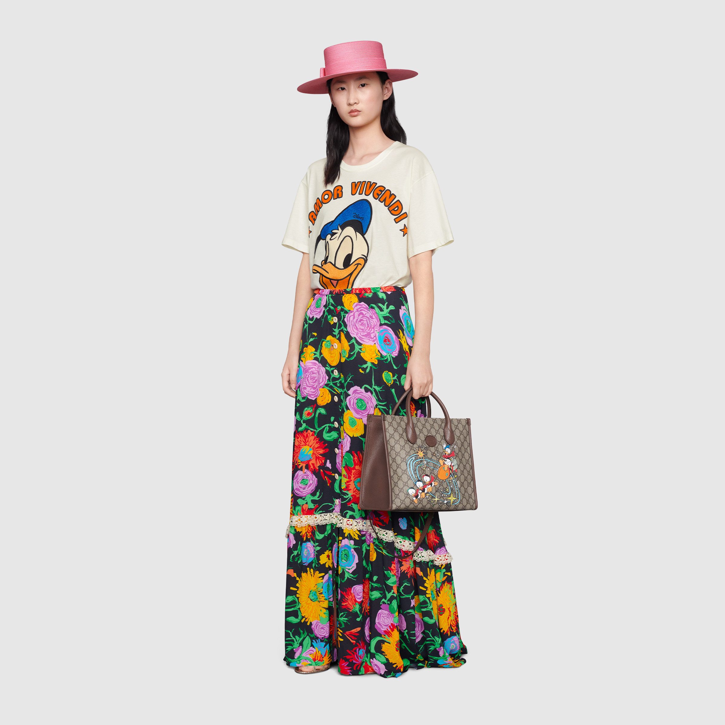 유럽직배송 구찌 GUCCI Gucci - Disney x Gucci Donald Duck T-shirt 615044XJDBJ9088