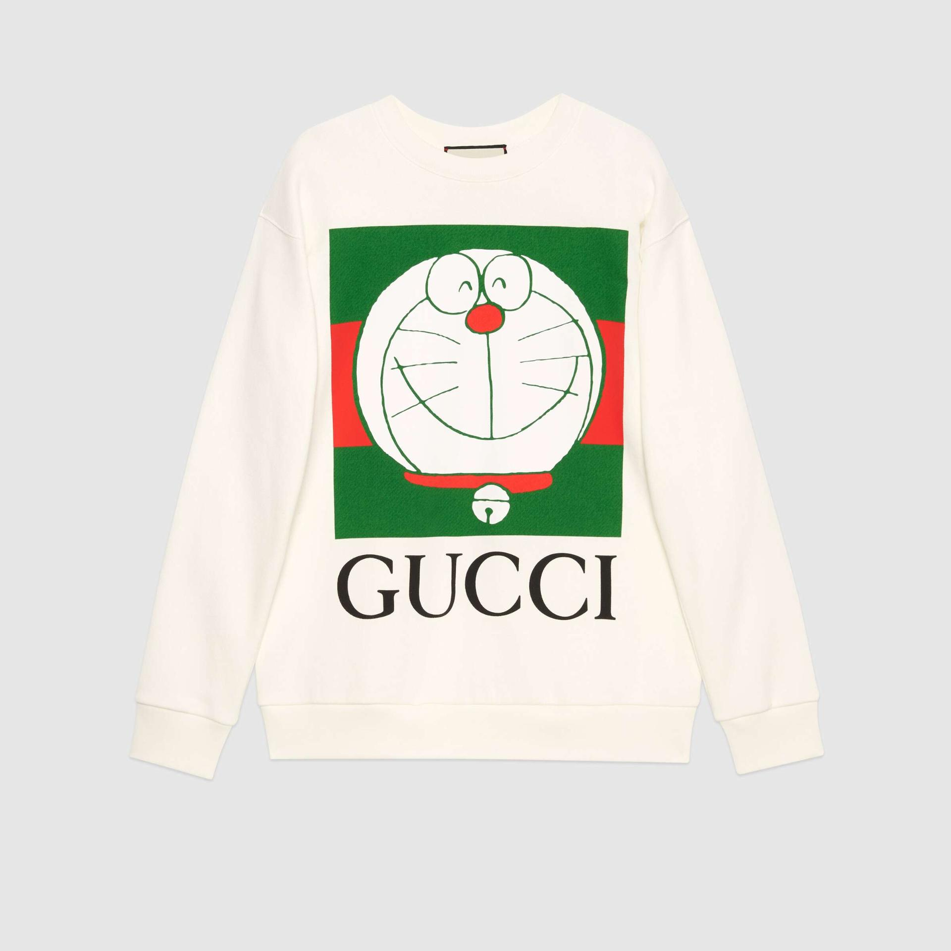 유럽직배송 구찌 GUCCI Gucci - Doraemon x Gucci cotton sweatshirt 617964XJDIJ9095