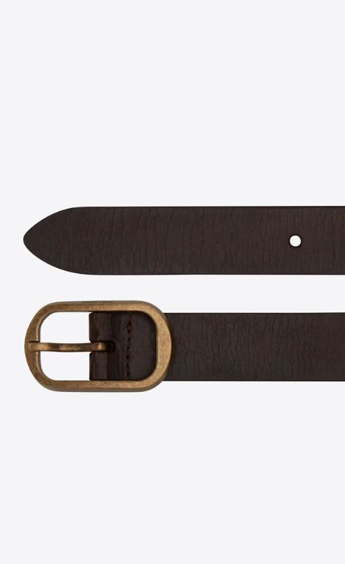 유럽직배송 입생로랑 SAINT LAURENT can buckle belt in crackled leather 65190418N0B2032