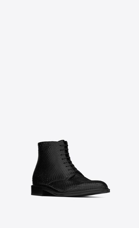유럽직배송 입생로랑 SAINT LAURENT army laced boots in python 6493412PL001000