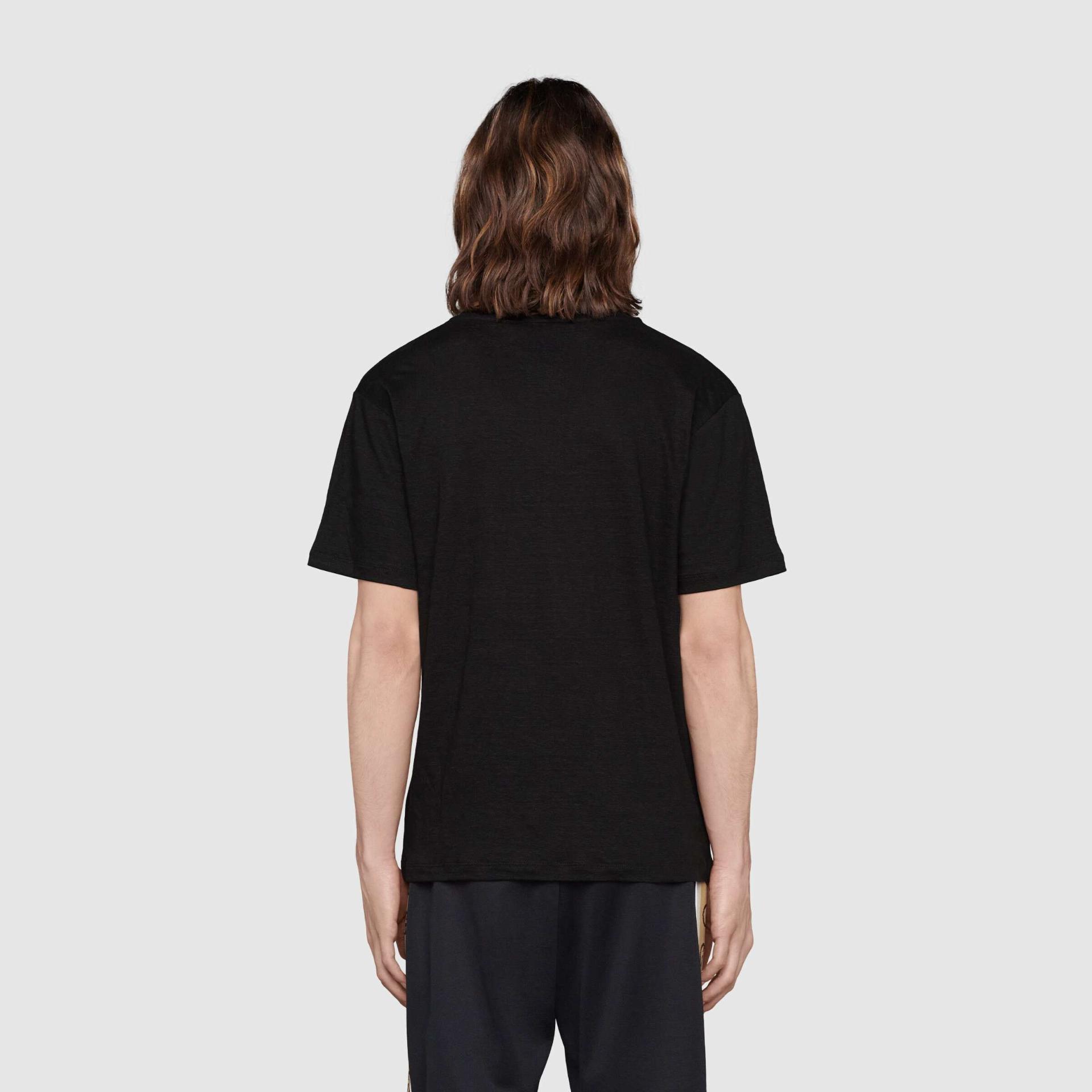 유럽직배송 구찌 GUCCI Gucci Linen V-neck T-shirt with Double G 645269XJC6N1043