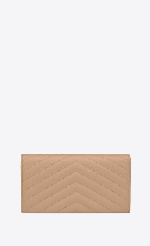 유럽직배송 입생로랑 SAINT LAURENT monogram large flap wallet in grain de poudre embossed leather 372264BOW012721