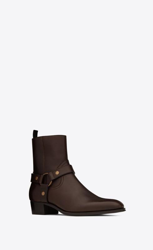 유럽직배송 입생로랑 SAINT LAURENT wyatt harness boots in smooth leather 64909418T006023