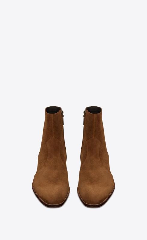 유럽직배송 입생로랑 SAINT LAURENT wyatt zipped boots in suede 6491031NZ002635