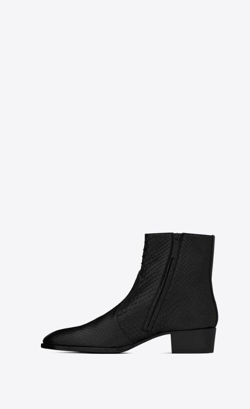 유럽직배송 입생로랑 SAINT LAURENT wyatt zipped boots in python 6304852PL001000