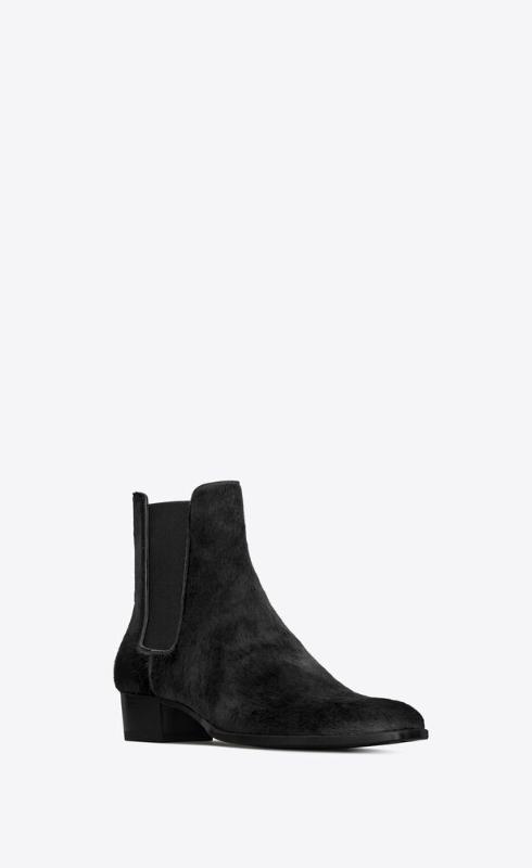 유럽직배송 입생로랑 SAINT LAURENT wyatt chelsea boots in pony-effect leather 6490991QU001000