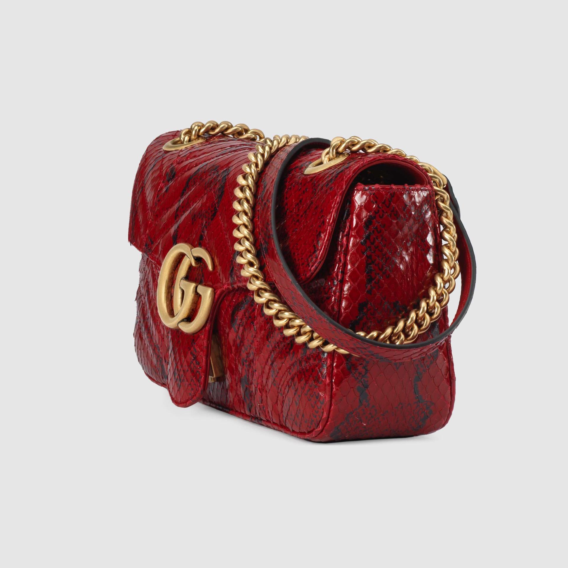 유럽직배송 구찌 GUCCI Gucci GG Marmont anaconda small shoulder bag 443497L2QDT6638