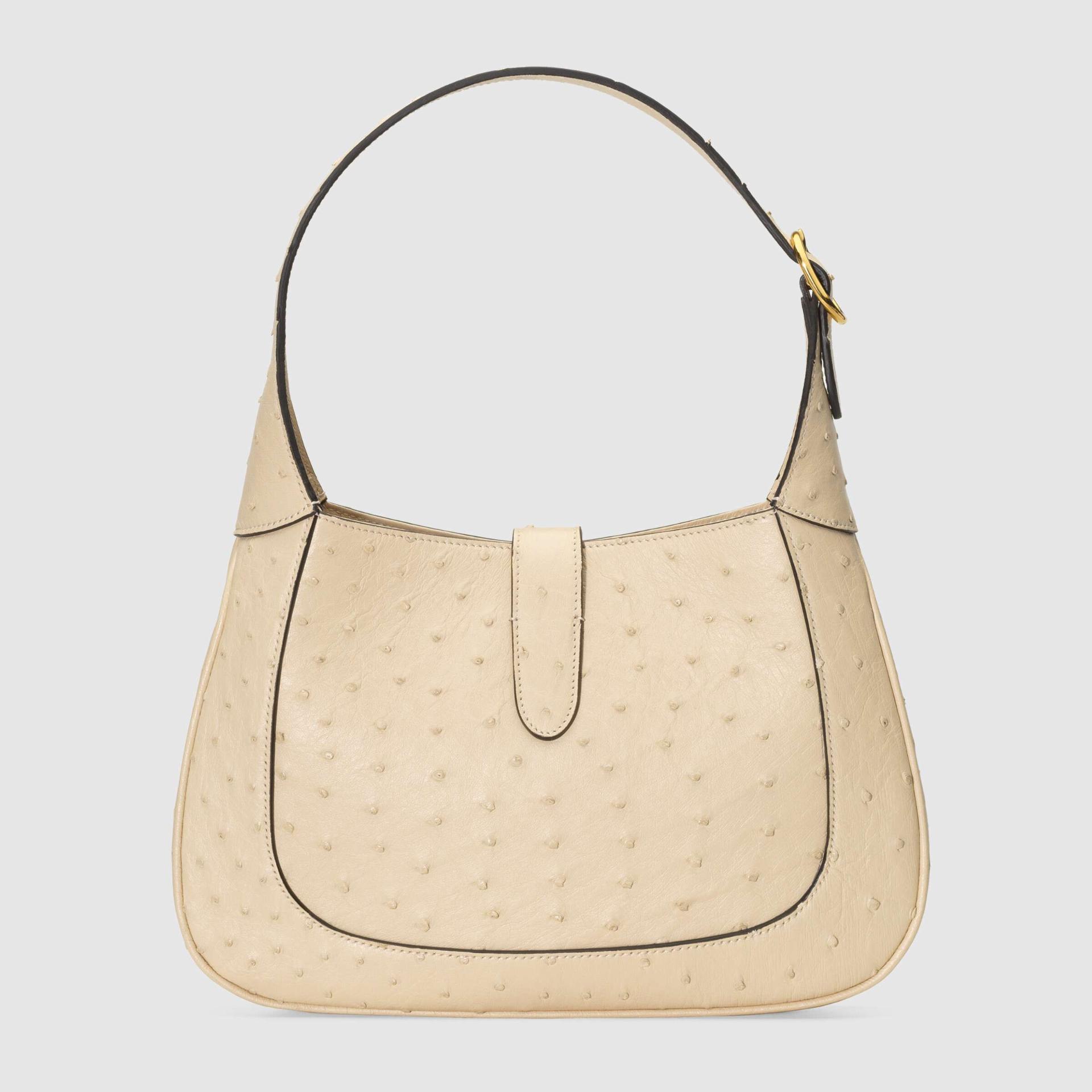 유럽직배송 구찌 GUCCI Gucci Jackie 1961 ostrich small hobo bag 636709EY00G9522