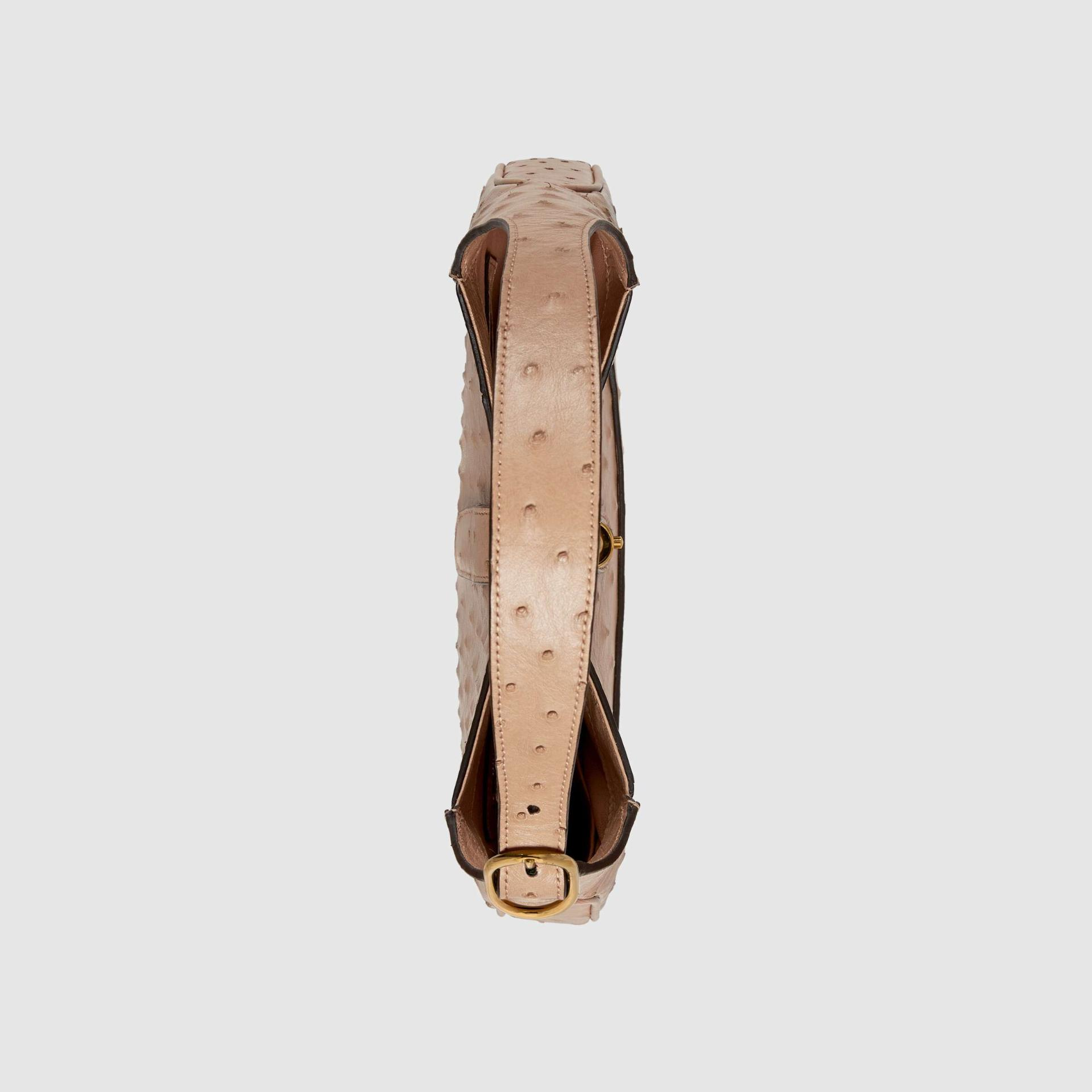 유럽직배송 구찌 GUCCI Gucci Jackie 1961 ostrich small hobo bag 636709EY00G2845