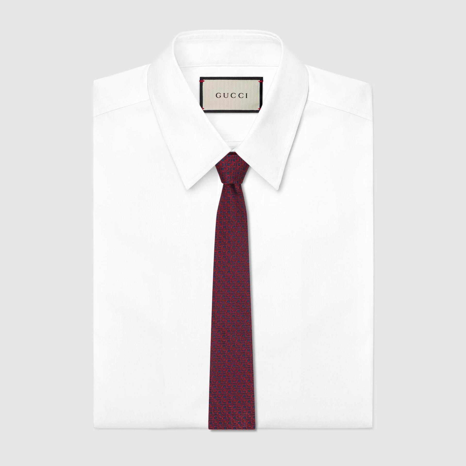 유럽직배송 구찌 GUCCI Gucci Silk tie with framed Double G 6439694E0024174