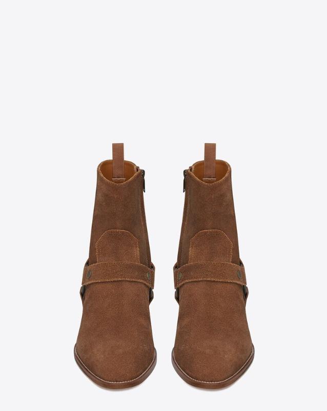 유럽직배송 입생로랑 SAINT LAURENT wyatt harness boots in suede 443190BPN005710