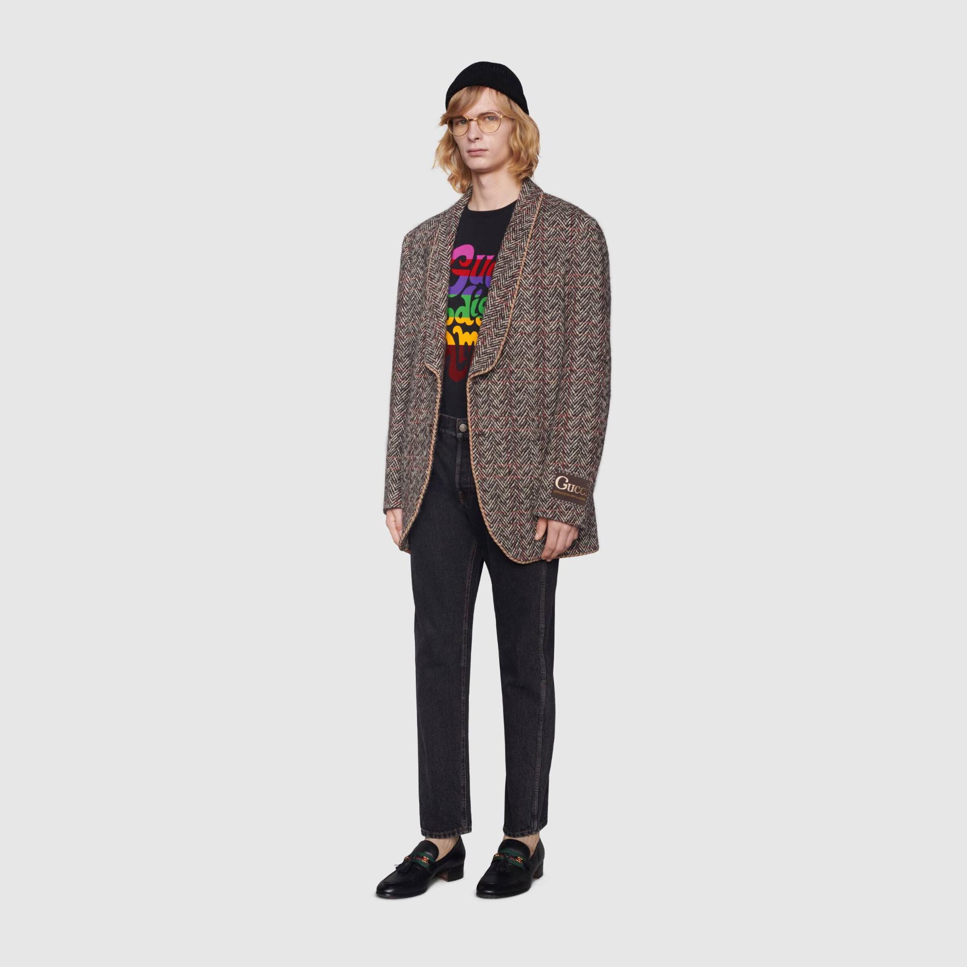 유럽직배송 구찌 GUCCI Gucci - 'Gucci Prodige d'Amour' print T-shirt 548334XJDAM1082