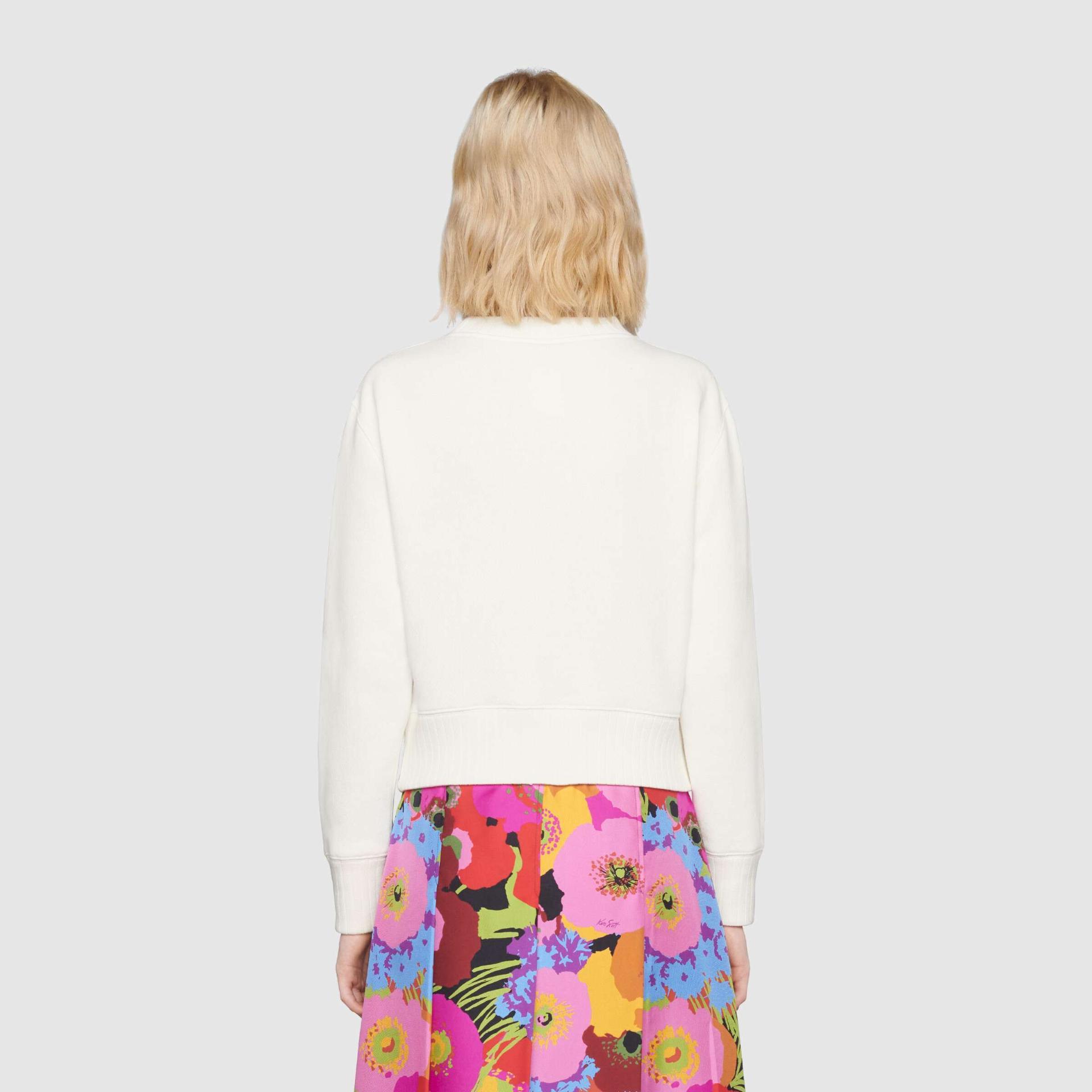 유럽직배송 구찌 GUCCI Gucci - Gucci cherry print cotton sweatshirt 644664XJDBX9088