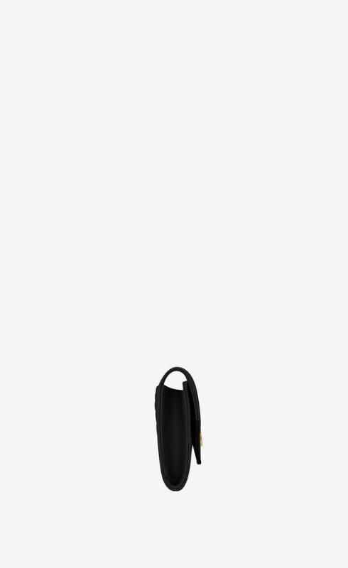 유럽직배송 입생로랑 SAINT LAURENT monogram small envelope wallet in mix matelassé grain de poudre embossed leather 651026BOW911000