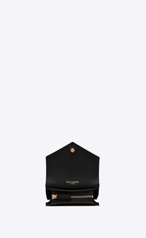 유럽직배송 입생로랑 SAINT LAURENT monogram card case in mix matelassé grain de poudre embossed leather 651027BOWT11000