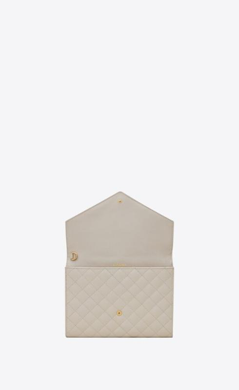 유럽직배송 입생로랑 SAINT LAURENT monogram clutch in mix matelassé grain de poudre embossed leather 651030BOW919207