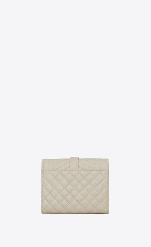 유럽직배송 입생로랑 SAINT LAURENT monogram compact tri fold in mix matelassé grain de poudre embossed leather 651028BOW919207
