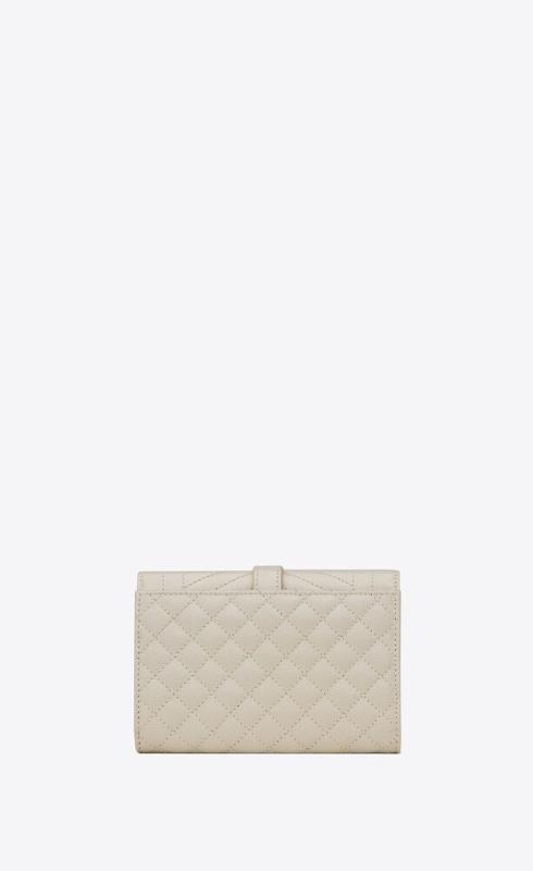 유럽직배송 입생로랑 SAINT LAURENT monogram small envelope wallet in mix matelassé grain de poudre embossed leather 651026BOW919207