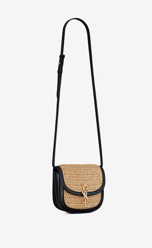 유럽직배송 입생로랑 SAINT LAURENT kaia small satchel in raffia and leather 619740GG66W7063