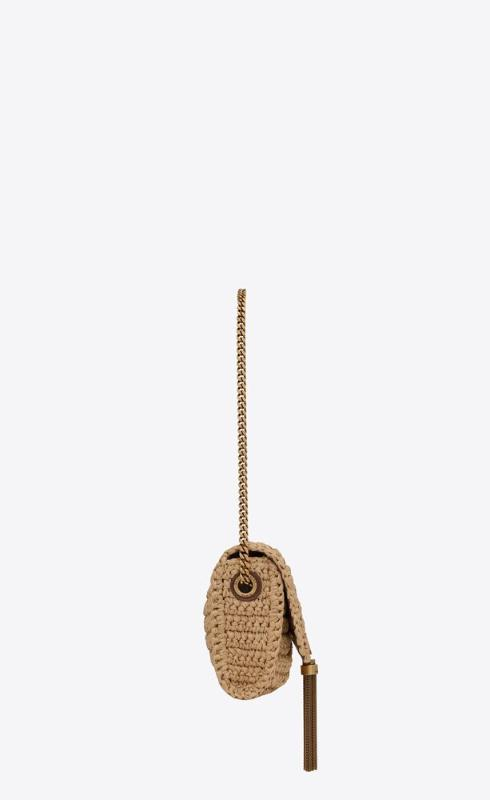 유럽직배송 입생로랑 SAINT LAURENT kate 99 with tassel in raffia and leather 604276GG6AW7072
