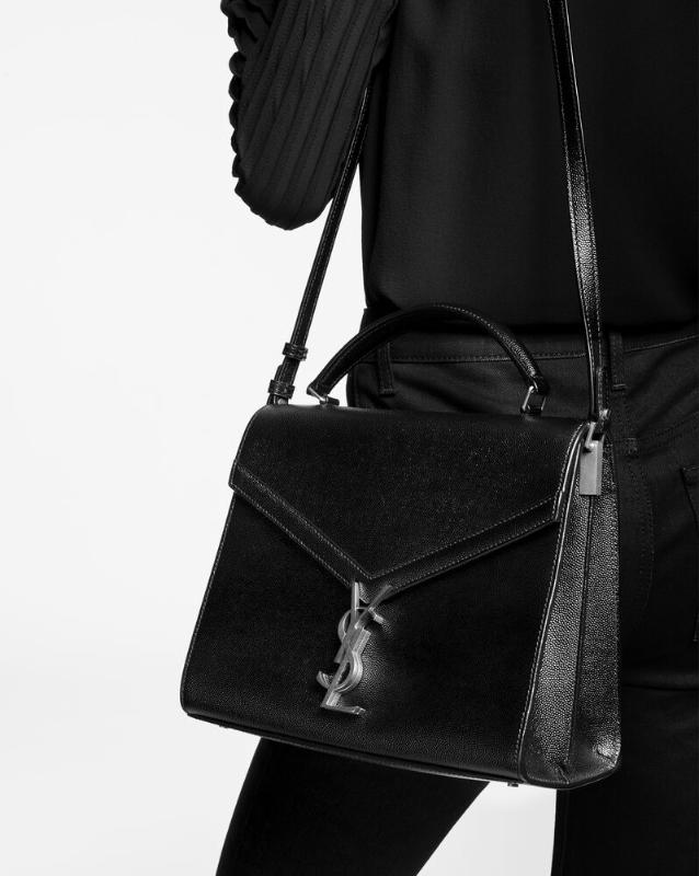 유럽직배송 입생로랑 SAINT LAURENT cassandra medium top handle bag in grain de poudre embossed leather 623931BOW0W2721
