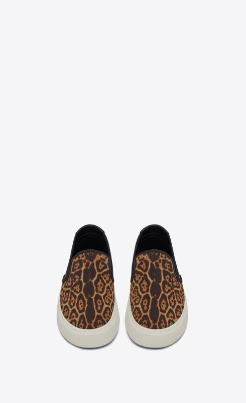 유럽직배송 입생로랑 SAINT LAURENT venice slip-on sneakers in leopard-print canvas 5857422RR202038