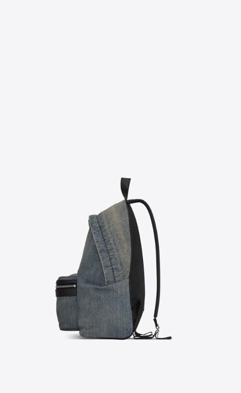 유럽직배송 입생로랑 SAINT LAURENT city mini backpack in bleached denim 6506172PS3E4572