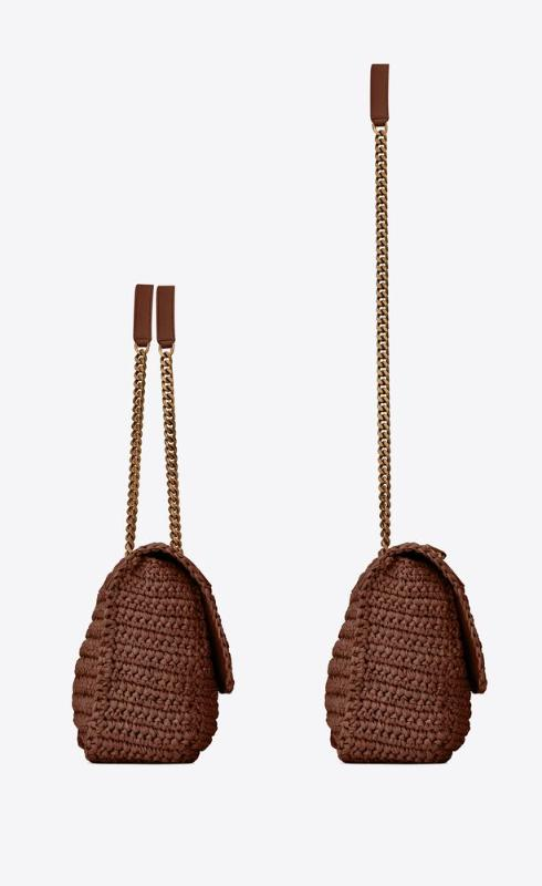 유럽직배송 입생로랑 SAINT LAURENT niki medium in raffia and leather 633187GG66W2181