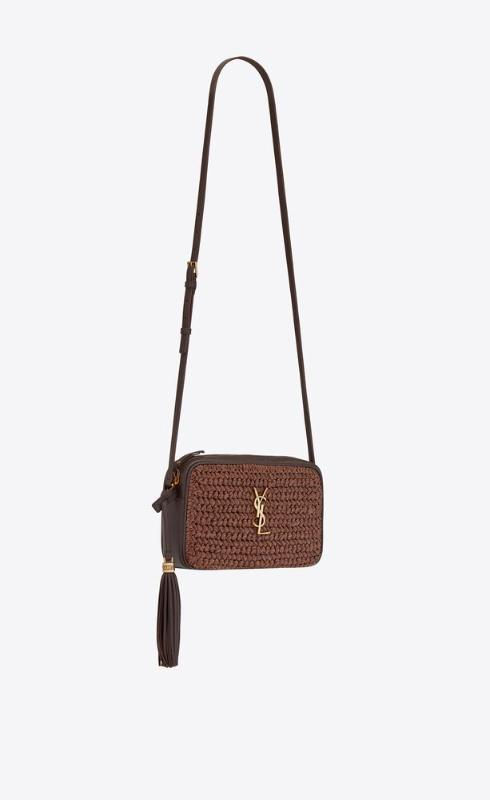 유럽직배송 입생로랑 SAINT LAURENT lou camera bag in raffia and leather 6125429OBEW2181