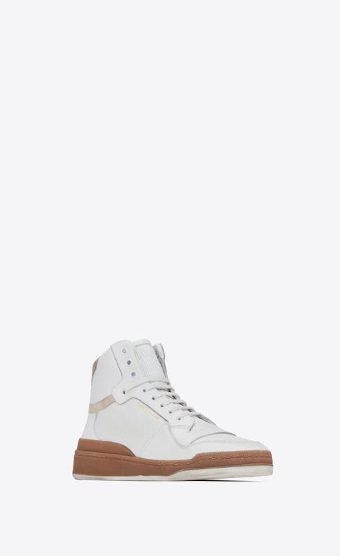 유럽직배송 입생로랑 SAINT LAURENT sl24 mid-top sneakers in leather and suede 61061804GA09298