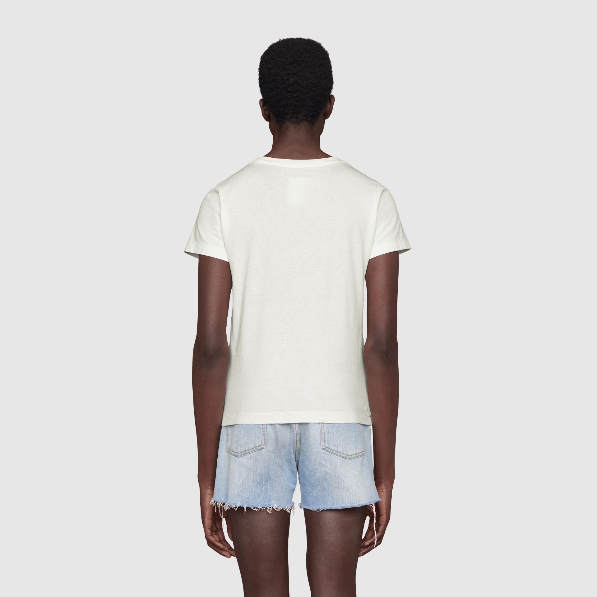 유럽직배송 구찌 GUCCI Gucci - The North Face x Gucci print cotton T-shirt 651722XJDCK9133