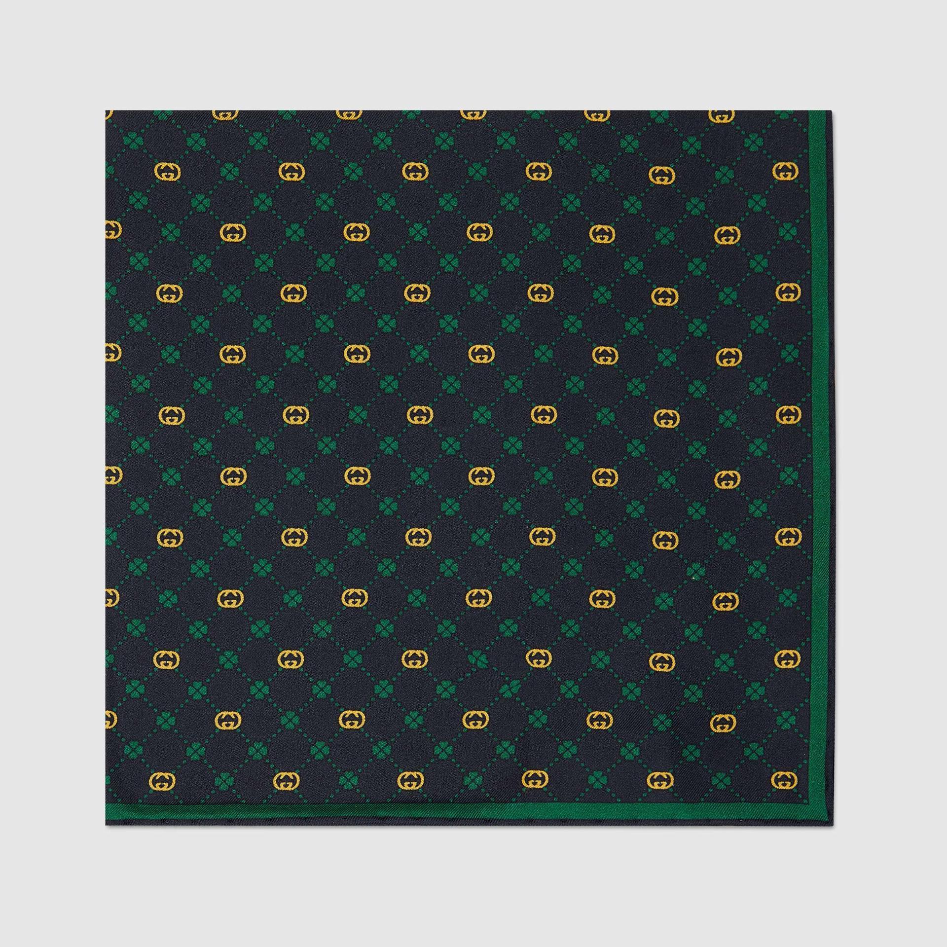 유럽직배송 구찌 GUCCI Gucci Interlocking G silk pocket square 6604254G0014067