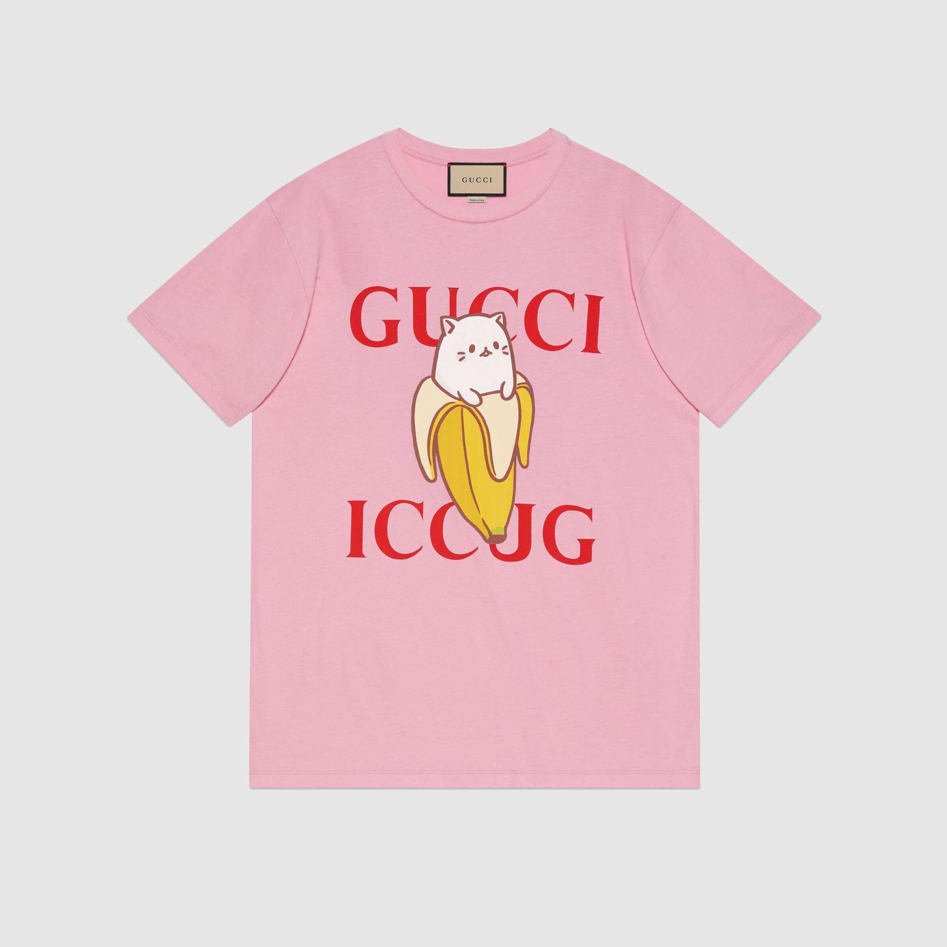 유럽직배송 구찌 GUCCI Gucci - Bananya x Gucci cotton T-shirt 615044XJDGR5904