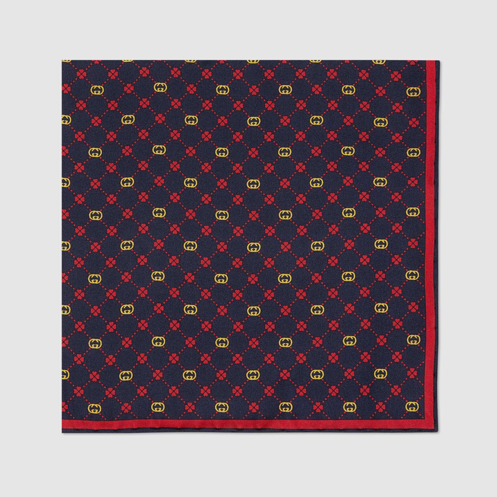 유럽직배송 구찌 GUCCI Gucci Interlocking G silk pocket square 6604254G0014074