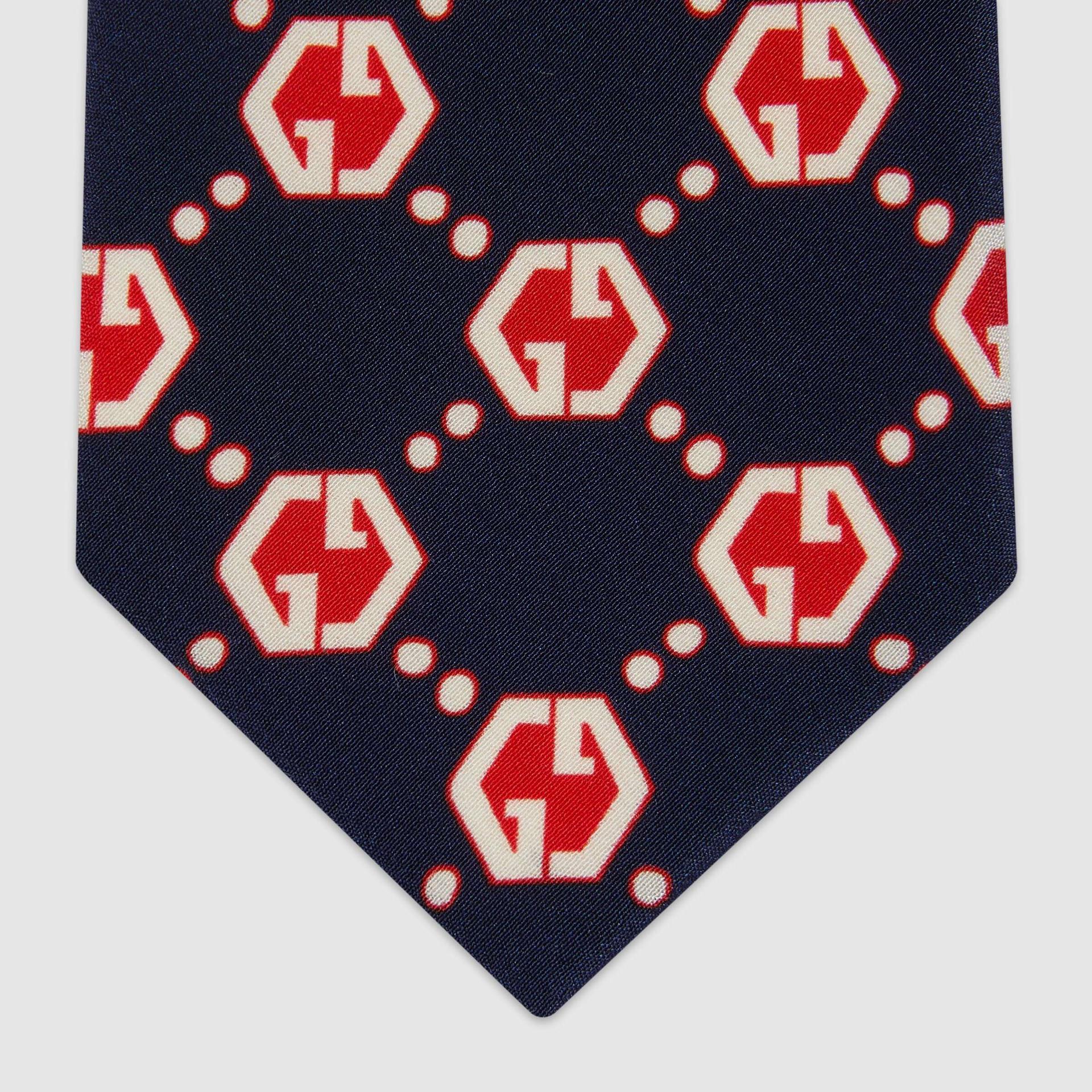유럽직배송 구찌 GUCCI Gucci GG hexagon print silk tie 6552814E0054174