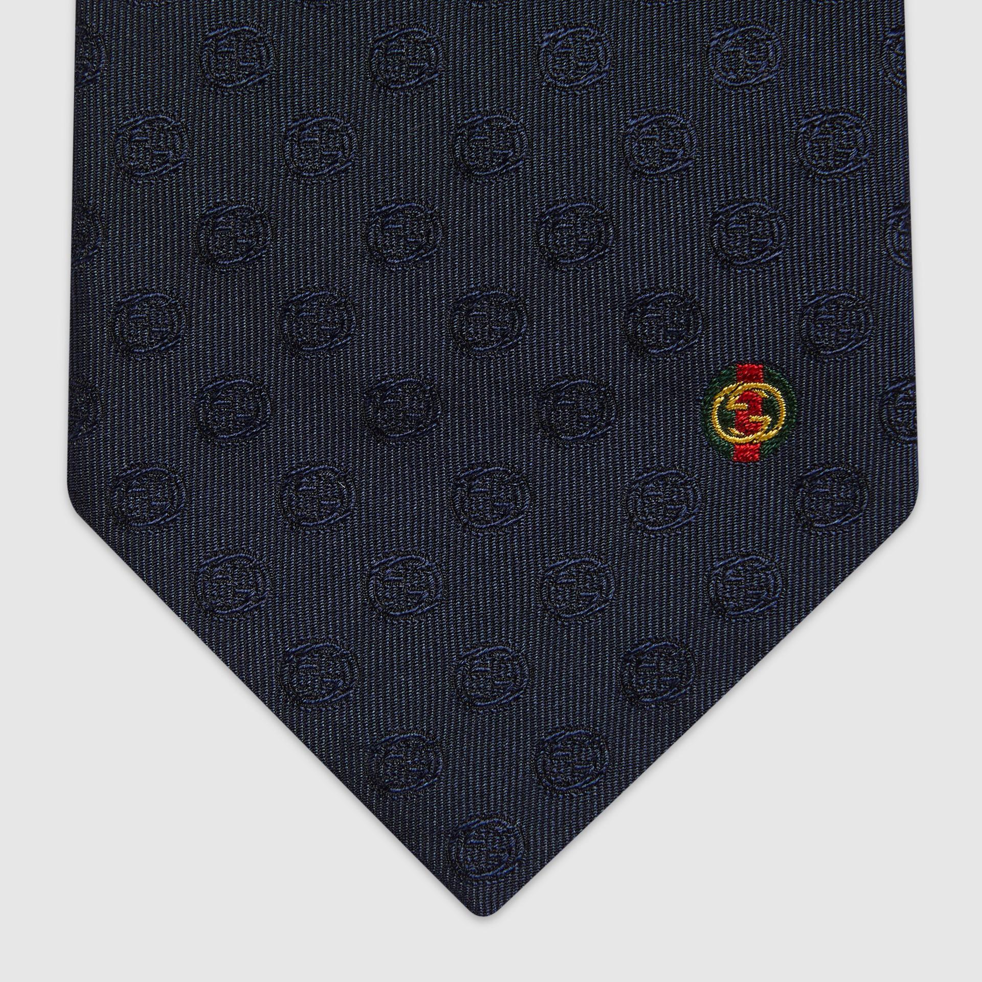 유럽직배송 구찌 GUCCI Gucci Interlocking G silk tie 6582454E0024100
