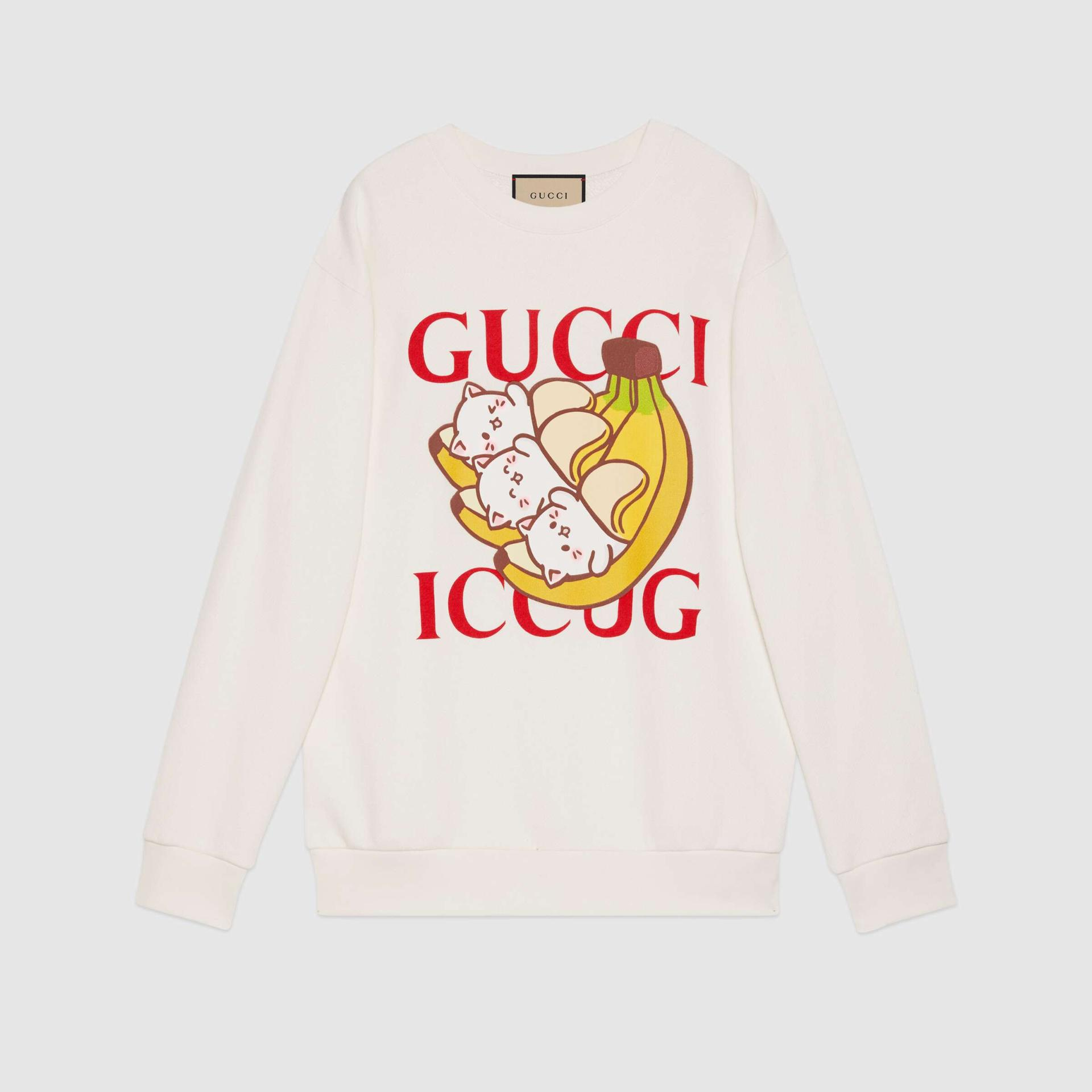유럽직배송 구찌 GUCCI Gucci - Bananya x Gucci sweatshirt 617964XJDGM9095