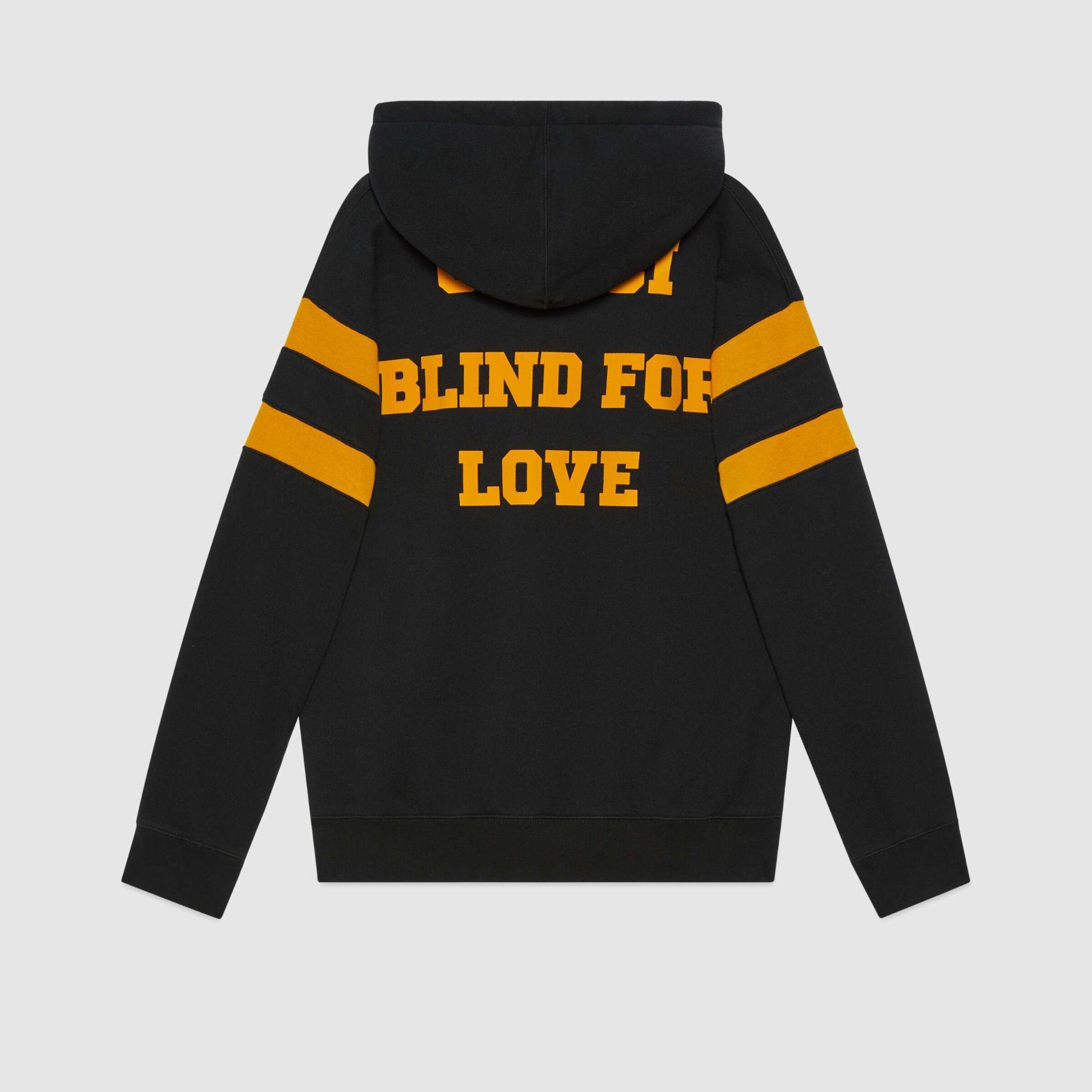 유럽직배송 구찌 GUCCI Gucci - Sweatshirt with '25 Gucci Eschatology and Blind for Love 1921 ' print 660282XJDJD1060