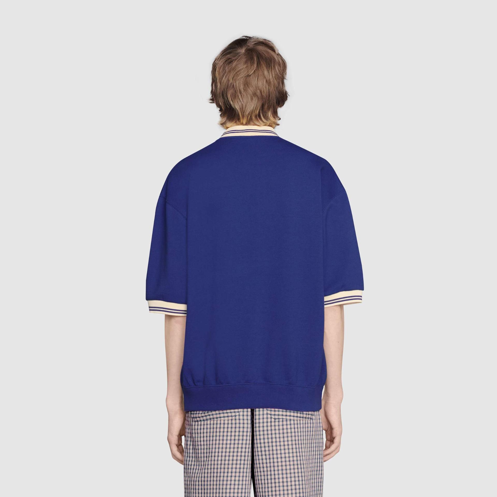 유럽직배송 구찌 GUCCI Gucci - Jersey polo sweatshirt with Gucci cat 658081XJDI44330
