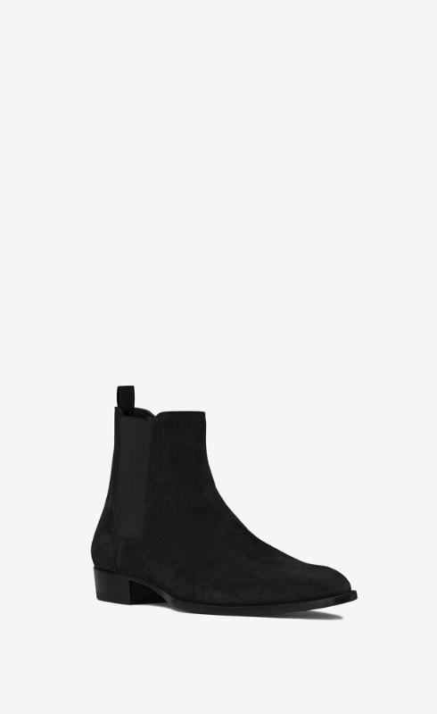 유럽직배송 입생로랑 SAINT LAURENT wyatt chelsea boots in suede 443208BT3001000
