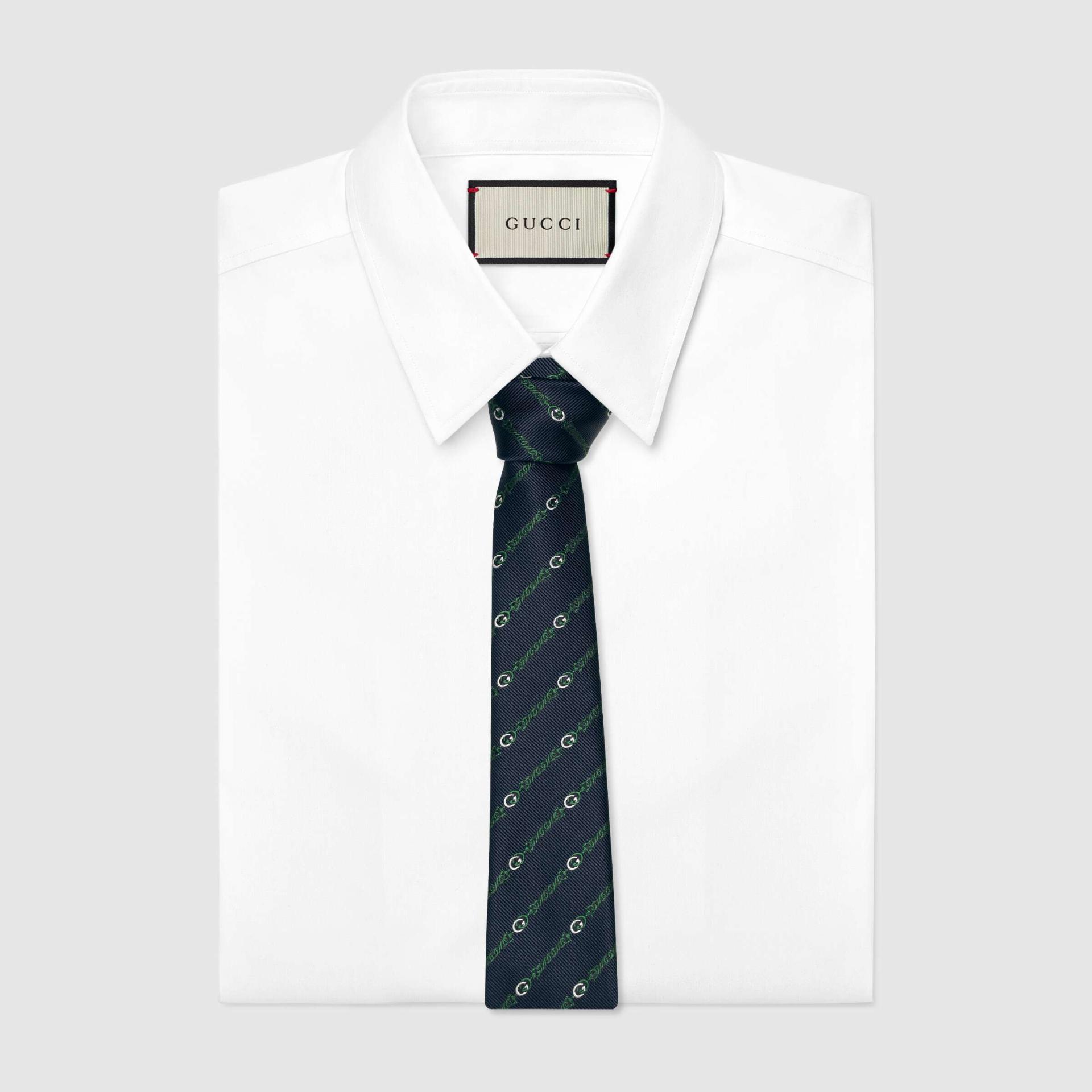 유럽직배송 구찌 GUCCI Gucci Interlocking G silk tie 6600454E0024066