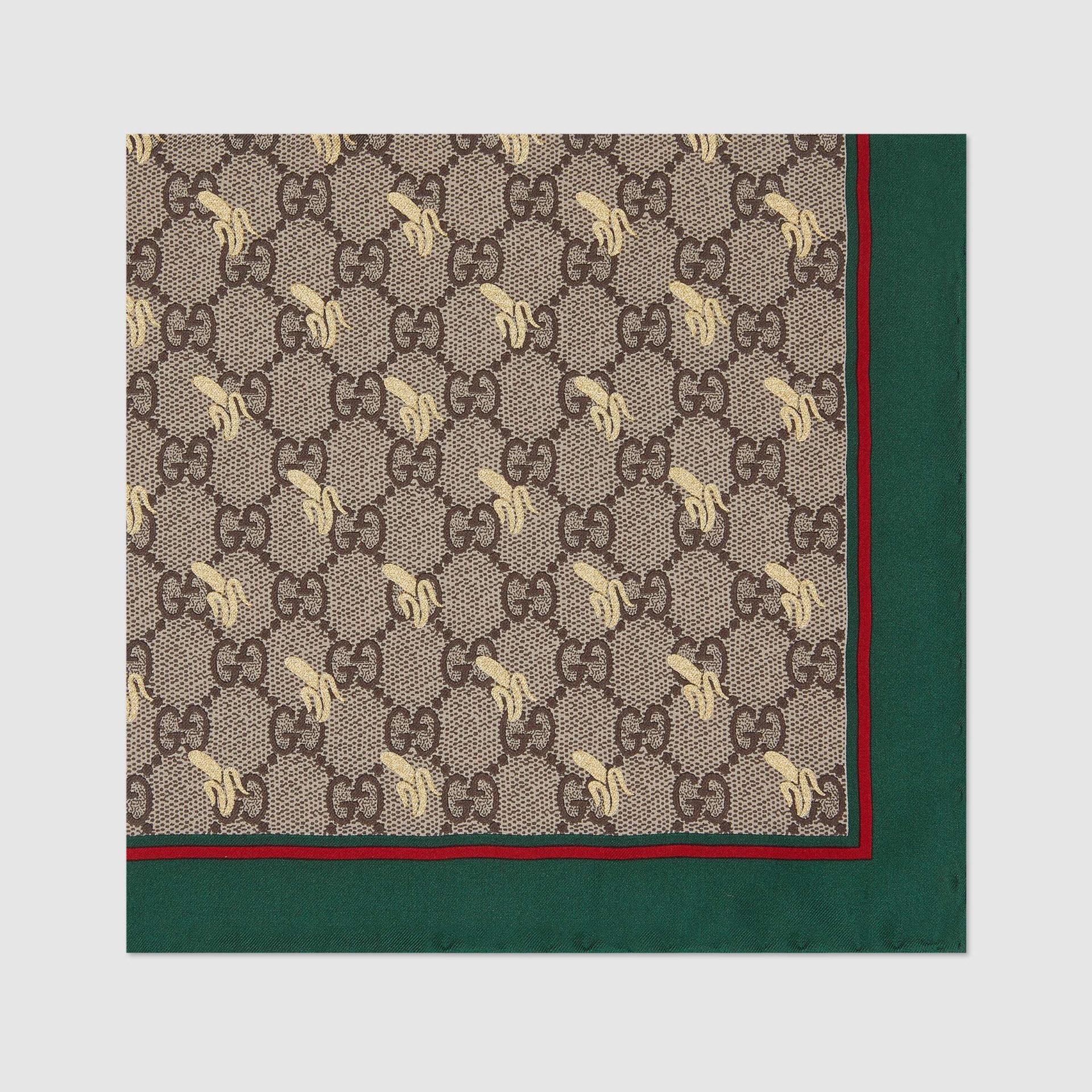 유럽직배송 구찌 GUCCI Gucci GG print silk pocket square 6637104G0013174