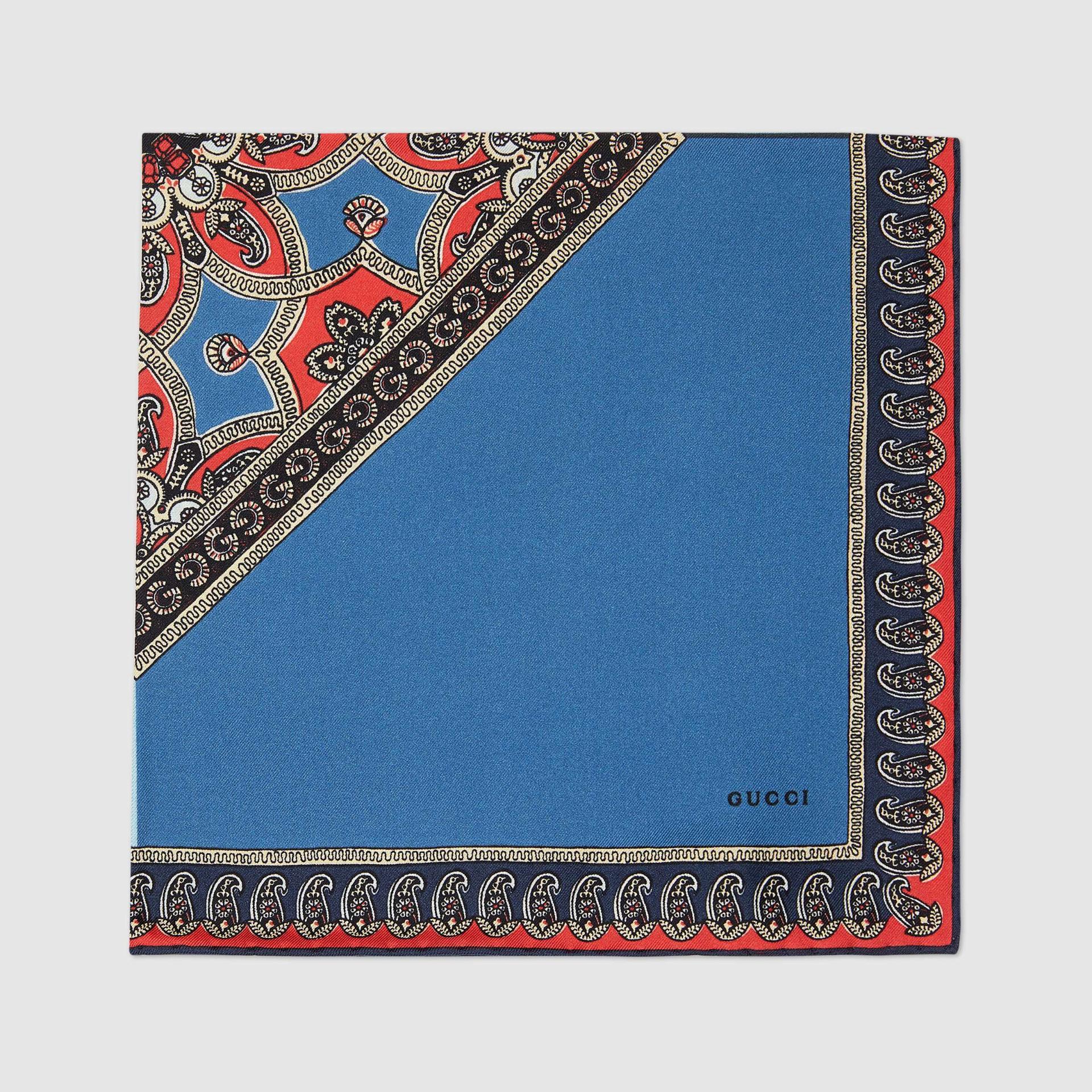 유럽직배송 구찌 GUCCI Gucci Paisley print silk pocket square 6556984G0014000