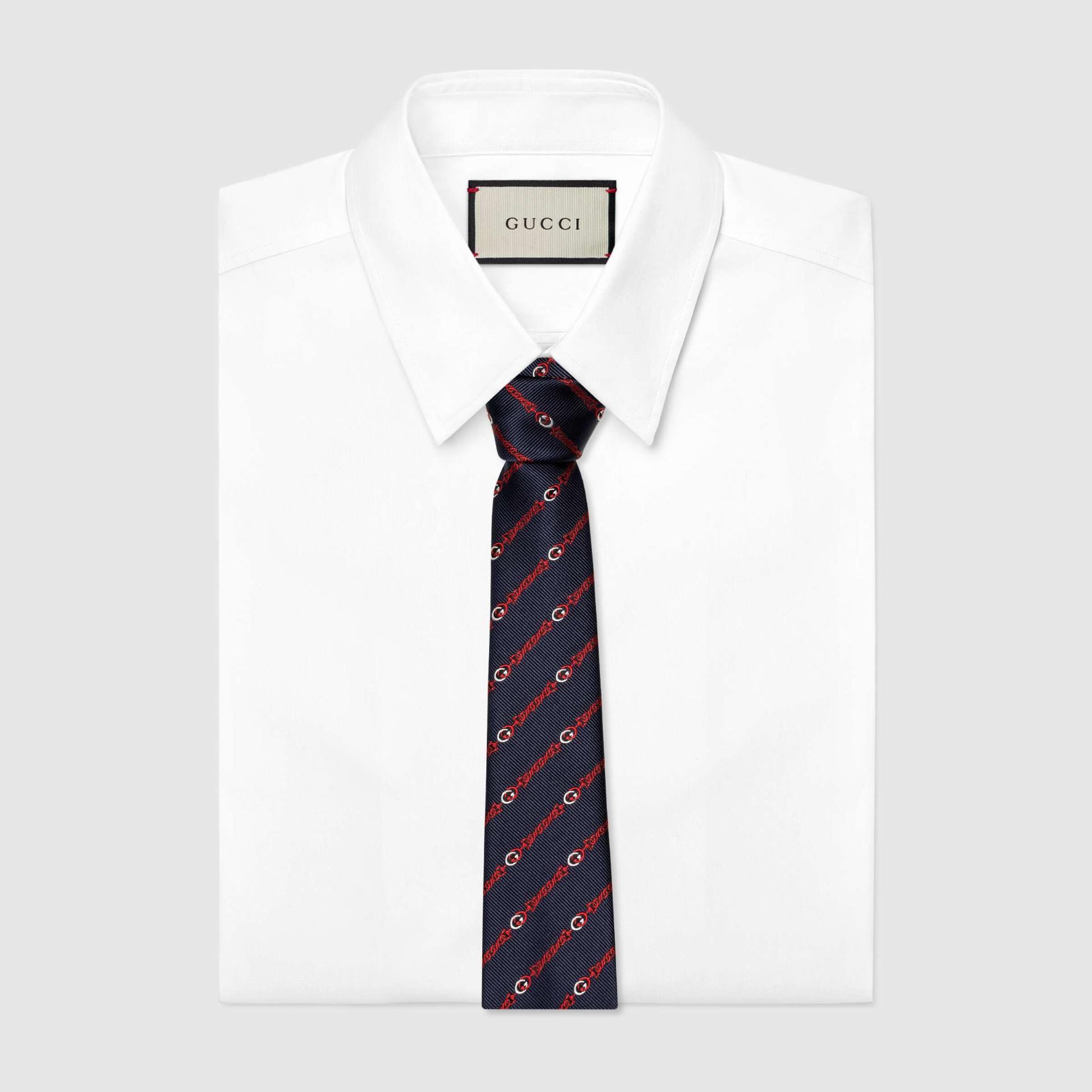 유럽직배송 구찌 GUCCI Gucci Interlocking G silk tie 6600454E0024174