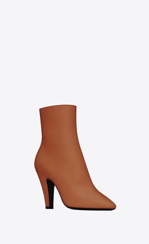 유럽직배송 입생로랑 SAINT LAURENT 68 booties in smooth leather 6581512W7009808