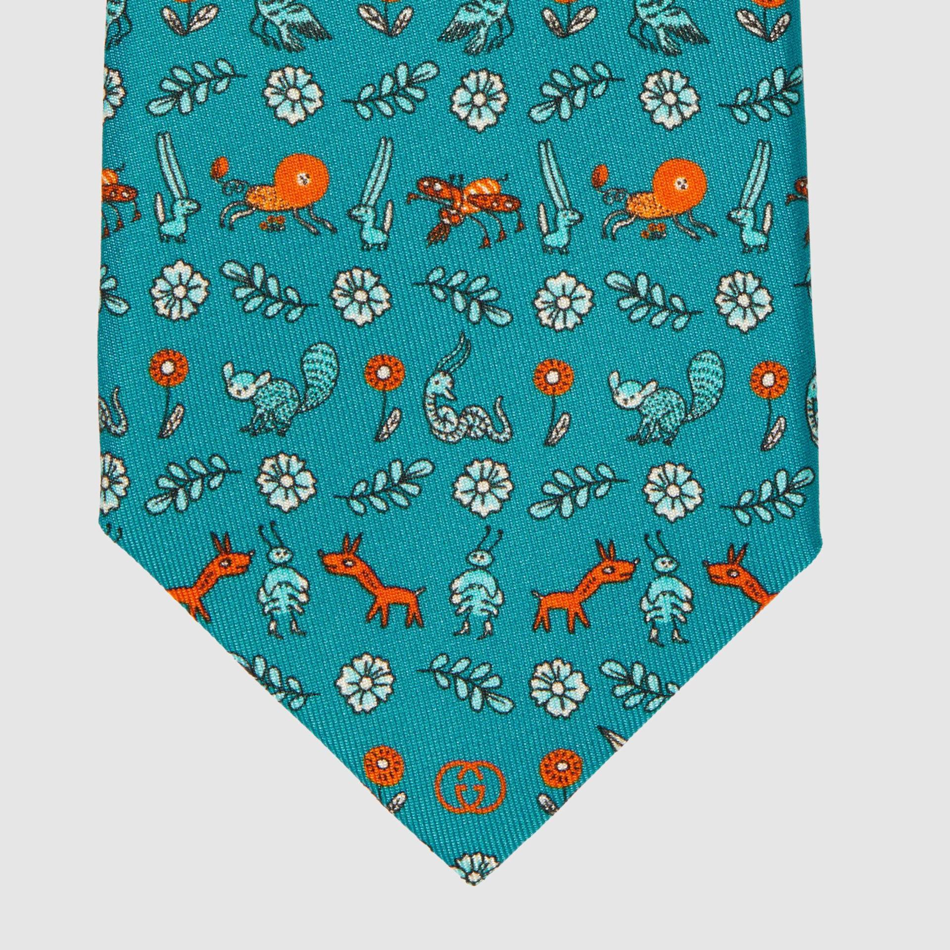 유럽직배송 구찌 GUCCI Gucci Freya Hartas print silk tie 6568594E0014467